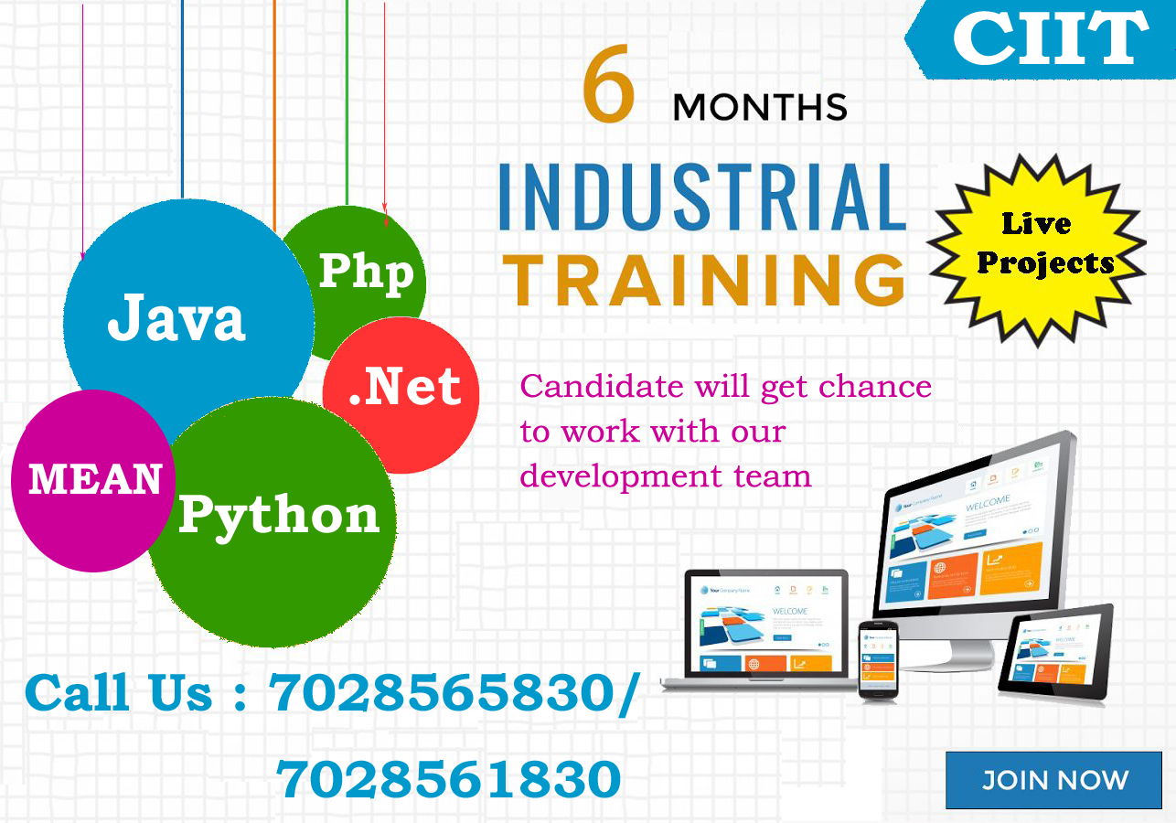 ciit offer you 6 months industrial training with 100% job guarantee